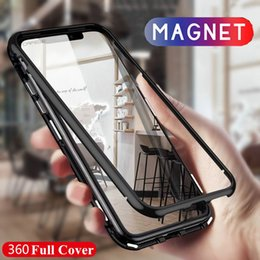 $enCountryForm.capitalKeyWord NZ - 360 Magnetic magnet Adsorption metal Hard Case for iPhone X 8 Plus 7 6 6S +Glass Back Cover for iPhone Xs Max Xr