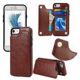 Pocket Plus Cell Phone Holder Australia - PU Leather Cell Phone Case For IPx Samsung Galaxy S5 S6 S8 Cases Cover Multi Card Holders
