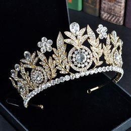 $enCountryForm.capitalKeyWord UK - New Fashion Baroque Luxury Crystal Bridal Crown Tiaras Gold Diadem Tiaras For Women Bride Wedding Hair Accessories J190701