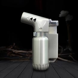 $enCountryForm.capitalKeyWord Australia - Creative Metal Mini Handheld Lighter Flamethrower Torch for Dab Rig Bong Quartz Nail High Temperature Heating