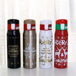 $enCountryForm.capitalKeyWord NZ - Christmas Stainless steel Water Bottle Vacuum Insulation flasks thermos tumblers Eco-friendly portable Cups Xmas Birthday New year Gift