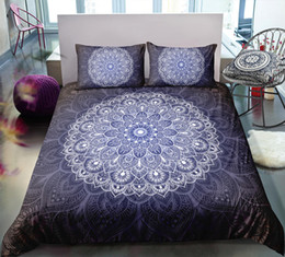 White 3d Rose Fabric NZ - Thumbedding Dropship Noble Blue Mandala Bedding Sets Bohemia Design All Size Quality 3D Duvet Cover Set Classic Style Floral Bed Set