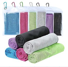 Wholesale Double Layer Ice Cold Towel 90*30cm Sport Cooling Summer Sports Exercise Cool Quick Dry Soft Breathable Cooling Towel 3 Pack Choose HH7-809