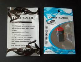 Plastic Readers Canada - 7.5*12cm zipper retail plastic package bag ,USB multi-function card reader Memory card poly opp Packaging bags