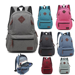 $enCountryForm.capitalKeyWord Australia - 2019 Wholesale Backpack Travel Sports outdoors Men and women canvas bags Schoolbag Durable 16 inches Computer package Grey Black Blue P020