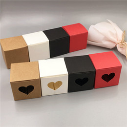 $enCountryForm.capitalKeyWord Australia - 50Pcs Lot 5x5x5cm Mini Cube With Heart Paper Candy Gift Storage Box For Valentine`s Day Anniversary Goods Gift Pack Mooncake Box