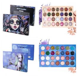 Glitter eyeshadow palette powder online shopping - Beautiful Witch Mermaid Eyeshadow Palette Color Blue Starry Sky Shimmer Glitter Eye Shadow Plate Powder Matte Eyeshadow