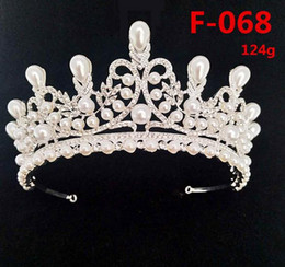 Free Pure Pearls Shipping Australia - Best-selling bridal wedding jewelry tiara crown designer pearl rhinestone hair crown hoop pure hand-studded fine craft free shipping