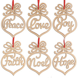 $enCountryForm.capitalKeyWord Australia - Christmas letter wood Heart Bubble pattern Ornament Christmas Tree Decorations Home Festival Ornaments Hanging Gift Set of 6pcs