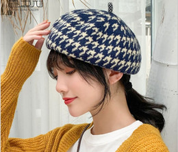 Tie fasTening online shopping - Wool beret female qiu dong han edition day fastens joker casual cap lovely vogue winter cap