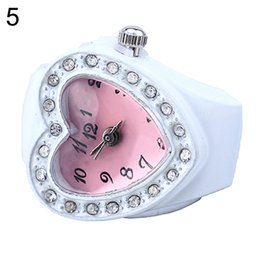 $enCountryForm.capitalKeyWord Australia - 1Lovely Lady Girl Silicon Heart-shaped Elastic Quartz Finger Ring Watch Gift