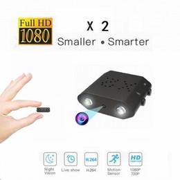 Vente en gros 2019 Nouvelle plus petite mini-caméra HD 1080P X2 XD Caméscope numérique Vision nocturne IR-Cut Mini DVR Détection de mouvement Caméscope Micro Sport DV