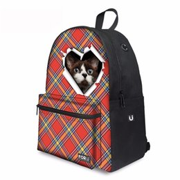 Cool Backpacks For Teenage NZ - Noisy Designs Women's Men's School bag Funny Cat 3D School Bags for Teenage Girls Printing Backpack Shoulder 2018 Cool Style