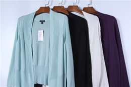 Shirt Poncho Australia - Spring and summer thin new plain elegant ice silk knitted shawl sun protection shirt air conditioning shirt