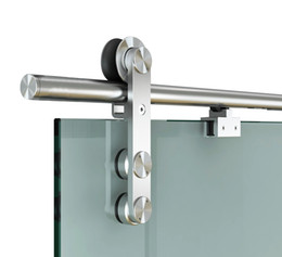 Soft Door CloSer Online Shopping   DIYHD FT Soft Close Glass Barn Door  Hardware Stainless Steel