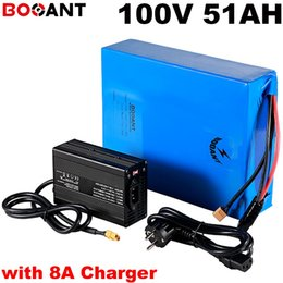 $enCountryForm.capitalKeyWord Australia - 100v 50ah electric bike battery for Panasonic 18650 cell 100v 10KW 12000W scooter lithium battery built in 150A BMS +8A Charger