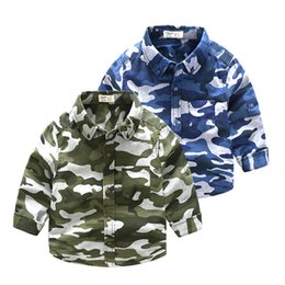 $enCountryForm.capitalKeyWord UK - Children Boys Shirts camouflage clothing 2019 Autumn Kids Baby Shirt For Boy blouse Child Printed Toddler Boys Clothes