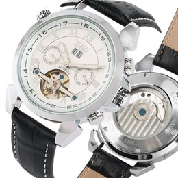 $enCountryForm.capitalKeyWord Australia - Fashion Luxury Dual-time Automatic-self-winding Mechanical Watches with Calendar Subdial Date Week Month and Selected Leather Band