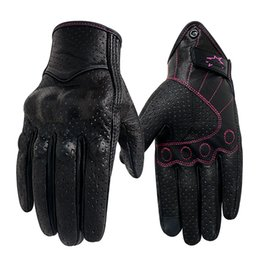 $enCountryForm.capitalKeyWord Australia - Motorcycle Gloves Women S M Leather Touch Screen Summer Motorcycle Guantes Cycling Glove Female Motocross Motorbike Luvas Mujer MX190817