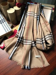pashmina silk NZ - 2020Top quality fashion Silk Pashmina scarf women Warm silk cashmere scarf composed vertical horizontal plaid scarves