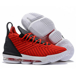 the latest db2ec 8362b Best Quality Lebron 16 Mens Basketball Shoes Black Whtie Red James 16 XVI  Authentic Trainers Sports Designer Sneakers Outlet