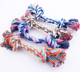 Home Cartoon Toys Australia - Dog Chew Rope Bone Pet Supplies Puppy Cotton Durable Braided Funny Tool Double Knot Toy Pets Chews Knot Play with Dog Tool Home Toy SN1759