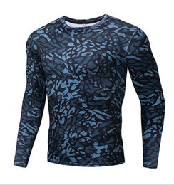 4xl women clothes NZ - Compression clothing men and women tight-fitting sports t-shirt long-sleeved running fitness clothes stretch quick-drying camouflage tights