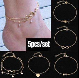 Stretch barefoot anklet jewelry online shopping - 2019 Barefoot Sandals For Wedding Shoes Sandel Anklet Chain Hottest Stretch Gold Toe Ring Beading Wedding Bridal Bridesmaid Jewelry Foot