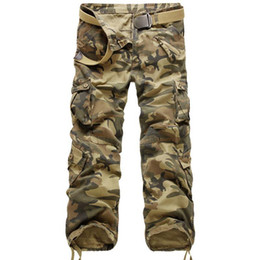 $enCountryForm.capitalKeyWord UK - New Brand Cargo Pants Men Military Straight Trousers Mens Casual Cotton Camouflage Multi-Pocket Long Pants Camo Washed Trouers