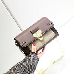 $enCountryForm.capitalKeyWord Australia - Elegant2019 Fairy Hit Color Chain Woman Square Package Single Shoulder Span Small Bag Believe Occlusive Wrap