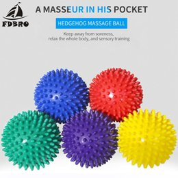 Wholesale FDBRO Fitness PVC Hand Massage Ball PVC Soles Hedgehog Sensory Training Grip the Ball Portable yoga Physiotherapy Ball Free Ship