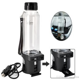 12v Heaters For Cars UK - 12V 24V 75W Car Electric Kettle 280ML Auto Heating Cup Travel Heated Cup Hot Water Heater For Coffee Tea Mug with Temperature Control Black