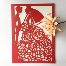 wedding groom figures Australia - 35Pcs Exquisite Bride And Groom Pattern Wedding Invitation Card Grand Events Invitations Cards Fancy Dress Party