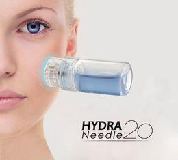 Wholesale 2018 Hydra Needle pins Titanium Microneedle Meso Derma Roller Needle free Mesotherapy Skin Care Rejuvenation Whiten Anti Wrinkle Acne
