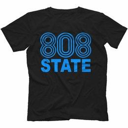 $enCountryForm.capitalKeyWord Australia - 808 State T-Shirt 100% Cotton Retro Rave Acid House Pacific StateAsh 2019 Summer New Fashion Brand Tshirt Solid Color