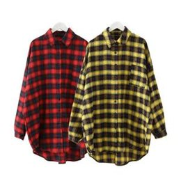 1e03a26ae62af Women Plaid Shirts Women Casual Button Down Plaid Check Blouse Long Sleeve Shirts  Lapel Tops Women Ladies Clothing LJJR294