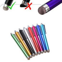 $enCountryForm.capitalKeyWord Australia - 1PC Universal Metal Mesh Micro Fiber Tip Touch Screen Stylus Pen For iPhone For Samsung Smart Phone Tablet PC Fibre Stylus