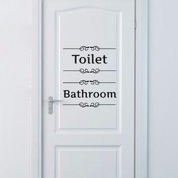 $enCountryForm.capitalKeyWord Australia - Bathroom Decor Wall Sticker Toilet Door Entrance Sign Vinyl Decal Transfer Vintage Decoration Quote Wall Art Free shipping