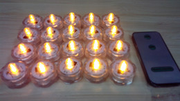 tea sub UK - SXI 24pcs lot wholesale battery operated waterproof remote control floralyte sub led tea lights