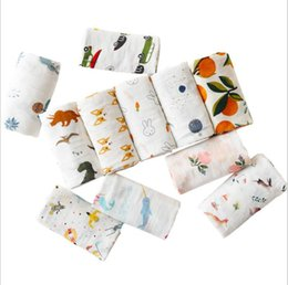 $enCountryForm.capitalKeyWord NZ - Cotton Swaddle Blanket Double Layer Animal Fruit Muslin Baby Blankets Infant Swaddle Towel For Newborns Baby Wrap Kids Bed Sheet Gifts