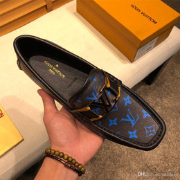 Leopard print maLe online shopping - A8 Spring Genuine Leather Slip On Casual Shoes Leopard Print Flats Loafers High Quality Dress Male Sneakers Mens Shoes Luxury Brands