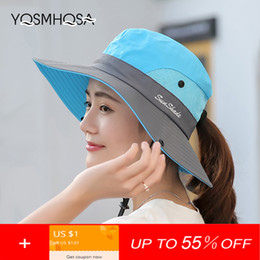 f66ef756d7146 Women Men Summer Sun Hat UV Protection Wide Brim Bucket Hats for Women  Foldable Hiking Fishing Cap Sunhat Outdoor Unisex WH609