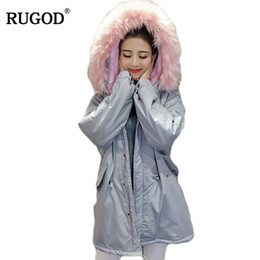 $enCountryForm.capitalKeyWord NZ - RUGOD 2018 Winter Jacket Women Slim Tunic Long Lambwool Parka Faux Fox Fur Collar Hooded Parkas Thick Warm Winter Coat Female