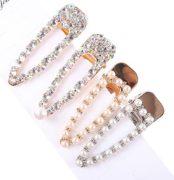 $enCountryForm.capitalKeyWord NZ - Free Ship 4pcs set Luxious Pearl Metal Hair Clip Hairband Comb Bobby Pin Barrette Hairpin Headdress Accessories Beauty Styling Tools