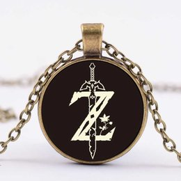 $enCountryForm.capitalKeyWord Australia - Cross-border hot sale game around Zelda legend time gem necklace Glass dome alloy pendant accessories foreign trade jewelry wholesale