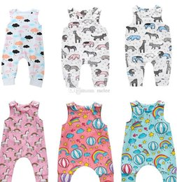 $enCountryForm.capitalKeyWord Australia - 100styles Baby Girl Romper Suit Kid Boutique Clothing Toddler Onesies Floral Fruit Solid Leopard Jumpsuit Bodysuit Ruffles Leotards 0-2Y