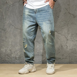 6fb71c918c4 Oversize Men Regular Fit Straight Jeans Plus Size Denim Pants Classic  Spring And Autumn Men s Clothing 2019 30 32-38 40 42 44 46
