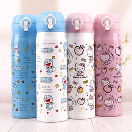 $enCountryForm.capitalKeyWord Australia - Custom kids water bottle Delicate Stainless Steel Joyshaker Bottle Cups Cartoon Animal Mugs Children Vacuum Water Bottles Thermos flask