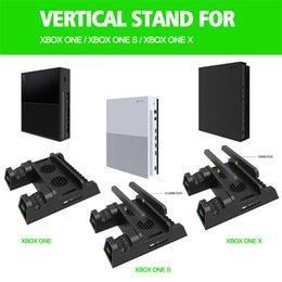 Dual Battery Charging Australia - New arrival Cooling Vertical Stand Dual Controller Charging Station with Batteries for Xbox ONE S X Game Console