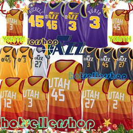 3fa0d829e Mitchell utah jazz 45 Donovan Mens youth jerseys 3 Ricky Rubio jersey 27  Rudy Gobert jersey 32 Karl Malone jersey Basketball jerseys